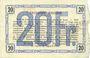 Banknoten Aisne, Ardennes et Marne - Bon régional. Hirson. Billet. 20 francs 14.6.1917, série 1
