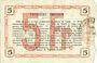 Banknoten Aisne, Ardennes et Marne - Bon régional. Hirson. Billet. 5 francs 14.6.1917, série 4