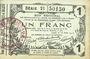 Banknoten Aisne, Ardennes et Marne - Bon régional. Laon. Billet. 1 franc 16.6.1916, série 21
