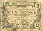 Banknoten Aisne, Ardennes et Marne - Bon régional. Laon. Billet. 2 francs 16.6.1916, série 4