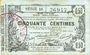 Banknoten Aisne, Ardennes et Marne - Bon régional. Laon. Billet. 50 cmes 16.6.1916, série 10