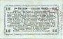 Banknoten Aisne, Ardennes et Marne - Bon régional. Laon. Billet. 50 cmes 16.6.1916, série 1