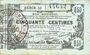 Banknoten Aisne, Ardennes et Marne - Bon régional. Laon. Billet. 50 cmes 16.6.1916, série 23