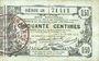 Banknoten Aisne, Ardennes et Marne - Bon régional. Laon. Billet. 50 cmes 16.6.1916, série 28