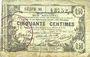 Banknoten Aisne, Ardennes et Marne - Bon régional. Laon. Billet. 50 cmes 16.6.1916, série 30