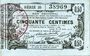 Banknoten Aisne, Ardennes et Marne - Bon régional. Laon. Billet. 50 cmes 16.6.1916, série 35