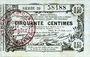 Banknoten Aisne, Ardennes et Marne - Bon régional. Laon. Billet. 50 cmes 16.6.1916, série 39