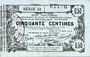 Banknoten Aisne, Ardennes et Marne - Bon régional. Laon. Billet. 50 cmes 16.6.1916, série 42