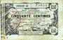 Banknoten Aisne, Ardennes et Marne - Bon régional. Laon. Billet. 50 cmes 16.6.1916, série 43