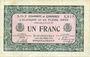 Banknoten Alençon et Flers, Orne (61). Billet. 1 franc 10.8.1915, série 2-O-2