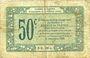 Banknoten Alençon et Flers, Orne (61). Billet. 50 cmes 10.8.1915, série 5-X-1