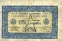 Banknoten Alençon et Flers, Orne (61). Billet. 50 cmes, 10 août 1915 barré et surchagé 31 décembre 1922
