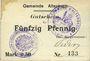 Banknoten Altenbach (68). Commune. Billet toilé. 50 pf (1914), cachets allemand et français, signé Feder