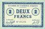 Banknoten Amiens (80). Chambre de Commerce. Billet. 2 francs 1915