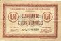 Banknoten Amiens (80). Chambre de Commerce. Billet. 50 cmes 1915