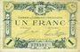 Banknoten Angoulême (16). Chambre de Commerce. Billet. 1 franc 15 janvier 1915, 4e série