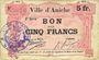 Banknoten Aniche (59). Ville. Billet. 5 francs 1915, 2e série