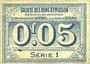 Banknoten Avesnes (59). Société des Bons d'Emission. Billet. 5 cmes n. d., série 1