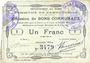 Banknoten Bantouzelle (59). Commune. Billet. 1 franc 20.6.1915, 2e série