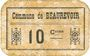 Banknoten Beaurevoir (02). Commune. Billet. 10 cmes, papier non toilé