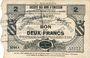 Banknoten Bertry (59). Société des Bons d'Emission. Billet. 2 francs, série 4