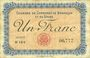 Banknoten Besançon (25). Chambre de Commerce. Billet. 1 franc 2.8.1915, série N 164