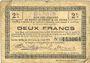 Banknoten Bohain (02). Ville. Billet. S.Q.G., 2 francs 8.8.1916