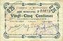 Banknoten Buironfosse (02). Commune. Billet. 25 cmes 25.8.1915