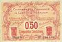 Banknoten Caen et Honfleur (14). Chambres de Commerce. Billet. 50 centimes, série A