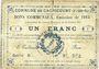 Banknoten Cagnicourt (62). Commune. Billet. 1 franc, émission 1915, série B