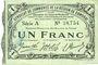Banknoten Cambrai (59). Syndicat de Communes de la Région de Cambrai. Billet. 1 franc 10.5.1916, série A