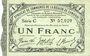 Banknoten Cambrai (59). Syndicat de Communes de la Région de Cambrai. Billet. 1 franc 10.5.1916, série C
