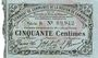 Banknoten Cambrai (59). Syndicat de Communes de la Région de Cambrai. Billet. 50 cmes 10.5.1916, série B