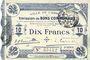 Banknoten Cambrai (59). Ville. Billet. 10 francs 30.10.1914, 2e série : 2,5 mm