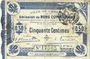 Banknoten Cambrai (59). Ville. Billet. 50 cmes 30.10.1914, 2e série, numérotation en noir