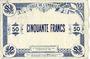 Banknoten Cambrai (59). Ville. Billet. 50 francs 30.10.1914