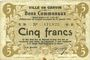 Banknoten Carvin (62). Ville. Billet. 5 francs 15.1.1915