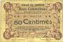 Banknoten Carvin (62). Ville. Billet. 50 centimes 15.1.1915