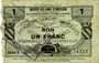 Banknoten Caudry (59). Société des Bons d'Emission. Billet. 1 franc, série 5