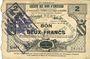 Banknoten Caudry (59). Société des Bons d'Emission. Billet. 2 francs, 3e émission, série 5
