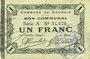 Banknoten Cauroir (59). Commune. Billet. 1 franc 16.12.1915, série A