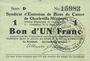 Banknoten Charleville et Mézières (08). Syndicat d'Emission de  Bons de Caisse. 1 franc 11.3.1916, série D