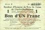 Banknoten Charleville et Mézières (08). Syndicat d'Emission de  Bons de Caisse. 1 franc 11.3.1916, série T