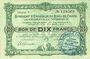 Banknoten Charleville et Mézières (08). Syndicat d'Emission de  Bons de Caisse. 10 francs 11.3.1916, série F