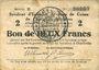 Banknoten Charleville et Mézières (08). Syndicat d'Emission de  Bons de Caisse. 2 francs 11.3.1916, série E