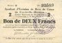Banknoten Charleville et Mézières (08). Syndicat d'Emission de  Bons de Caisse. 2 francs 11.3.1916, série G