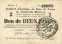 Banknoten Charleville et Mézières (08). Syndicat d'Emission de  Bons de Caisse. 2 francs 11.3.1916, série J