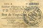 Banknoten Charleville et Mézières (08). Syndicat d'Emission de  Bons de Caisse. 25 cmes 11.3.1916, série A