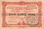 Banknoten Charleville et Mézières (08), Syndicat d'Emission de  Bons de Caisse, 5 francs 11.3.1916, série M