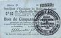 Banknoten Charleville et Mézières (08). Syndicat d'Emission de  Bons de Caisse. 50 cmes 11.3.1916, série G